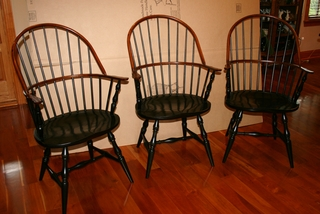 Trio of classic Windsor chairs