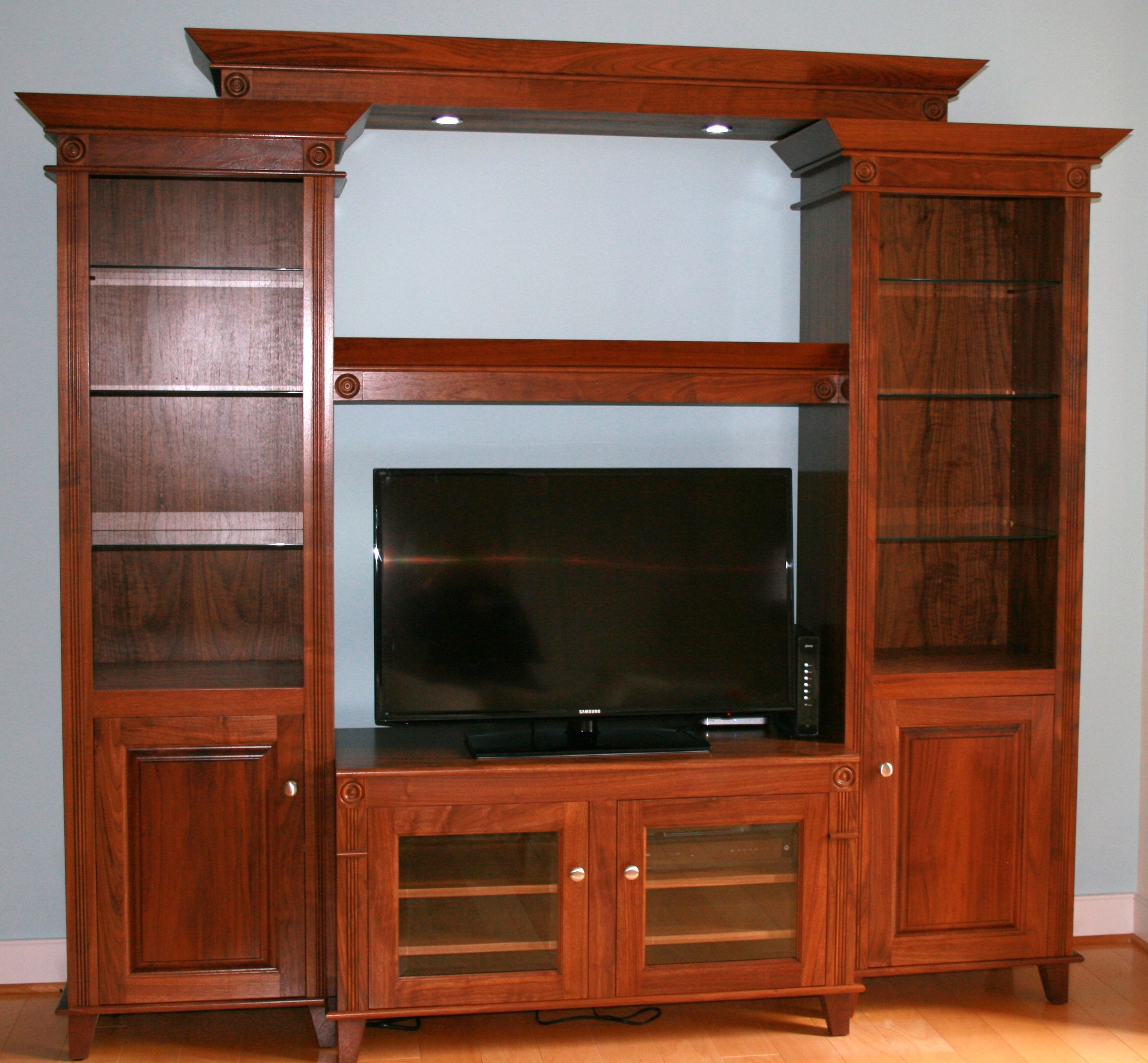 Used Kitchen Cabinets In Maryland: Solid Walnut Entertainment Center